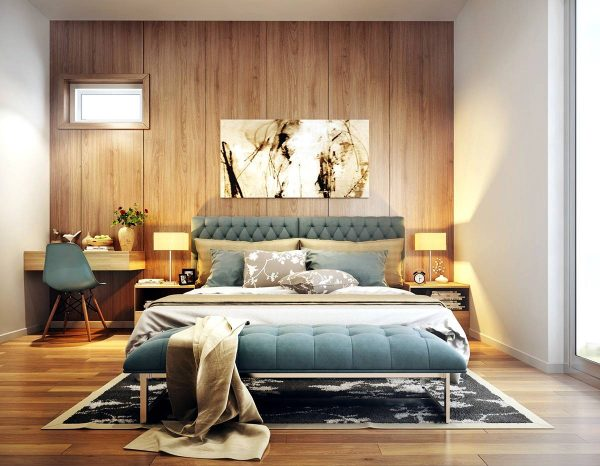 wood textured bedroom wall
